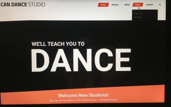 """NEWS"" button added to Can Dance homepage"